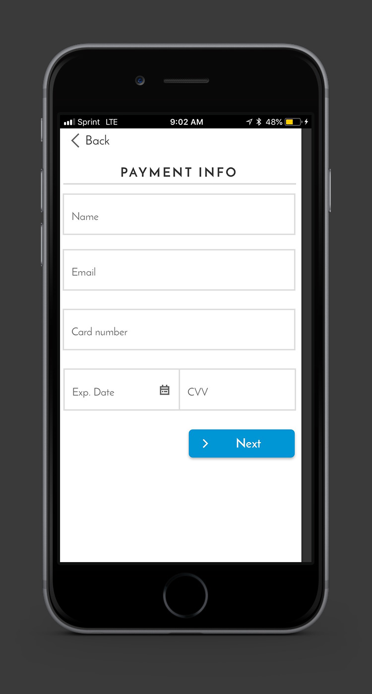 a simple interface allows the payment information to be added. A plugin for scanning cards using the phone's camera is planned for a future release.